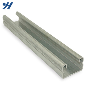 China Supplier Perforated Galvanized Cold Formed C Channel Steel Section Sizes