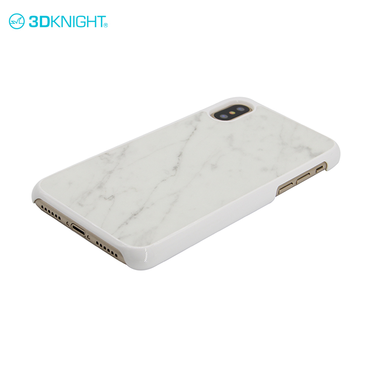 White PC+white Marble for i phone X blank hard phone cases and stylish mobile covers