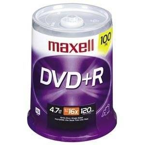 "Maxell 16X Dvd+R Media - 4.7Gb - 100 Pack ""Product Category: Storage Media/Optical Media"""
