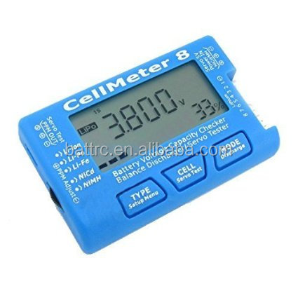 Smart Guard Cellmeter8 Battery voltage Capacity checker Balance Discharger/Servo Tester