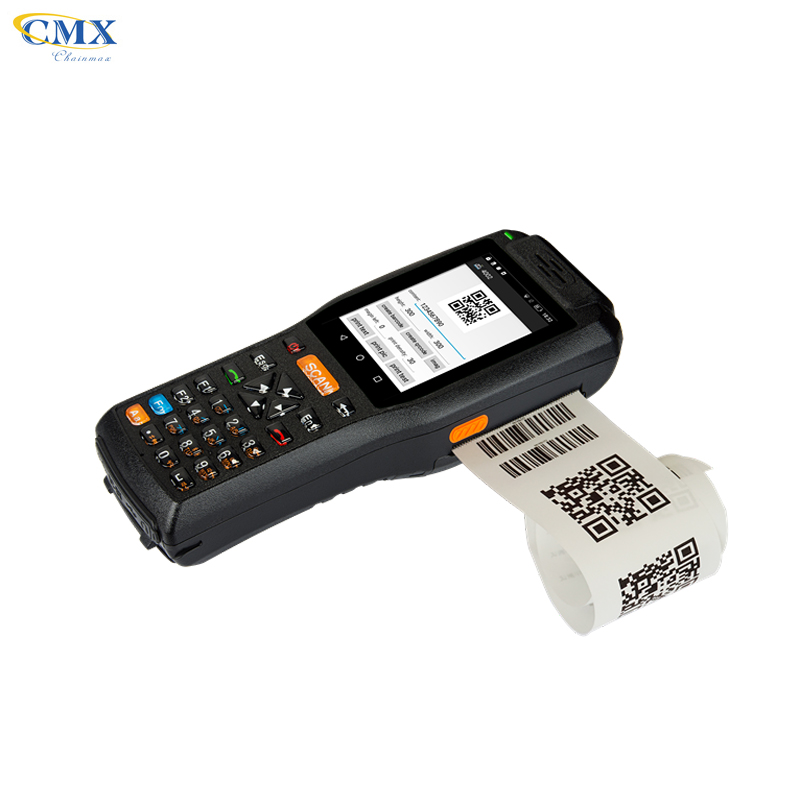 Logistics handheld portable data collector android 1D 2D Barcode scanner PDA with printer