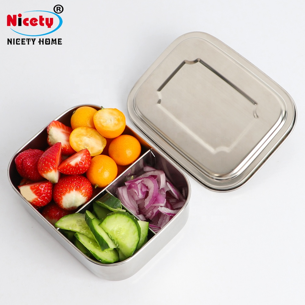 Europe private label wholesale stainless steel rectangular lunch box for men
