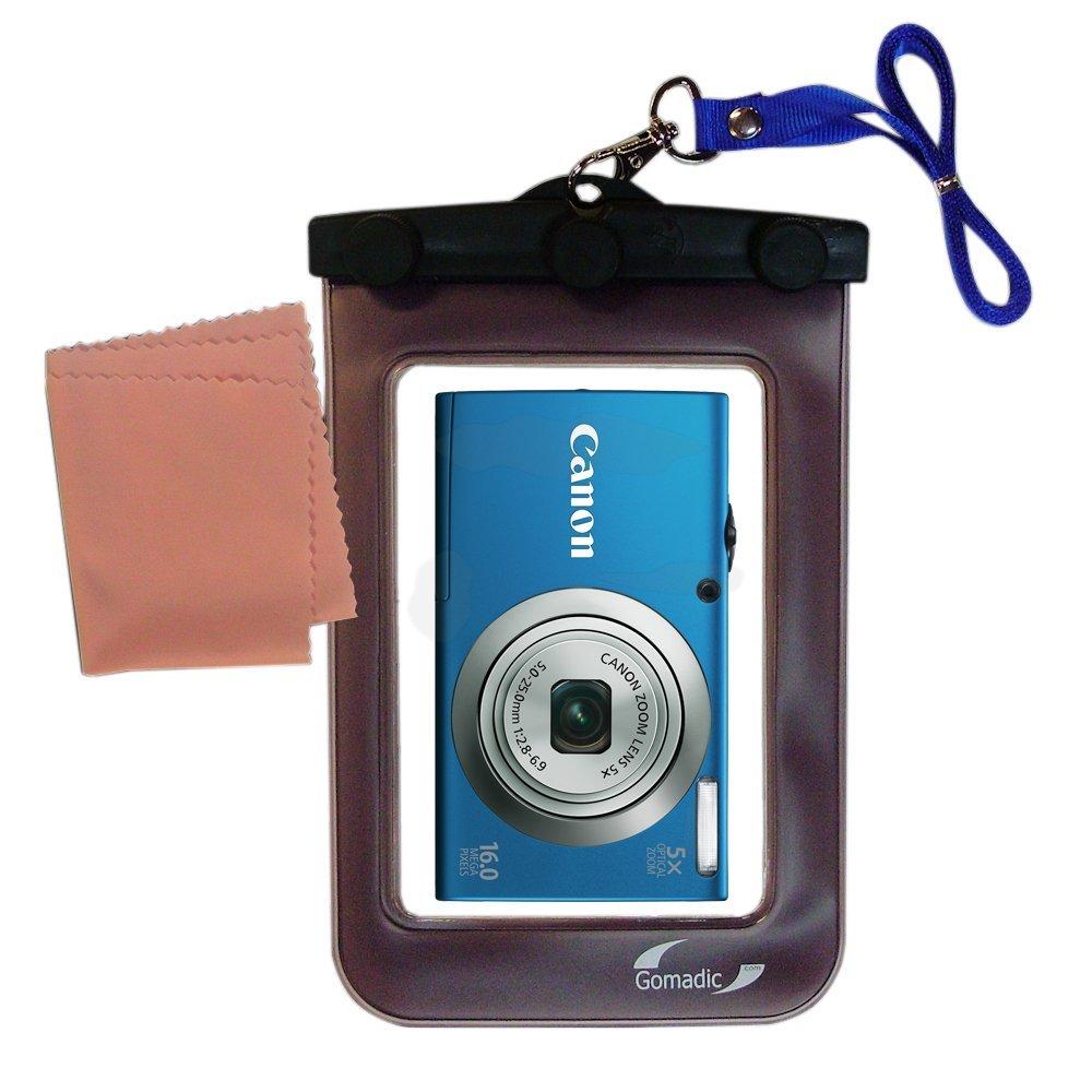 Black Black Protective Neoprene Cover Sleeve for Canon Power Shot A490 A495 A800 A1200 A2200 A3000 IS A3100 IS A3300 IS Powershot Digital Camera and Blue 6 Inch Mini Tripod and Screen Protector