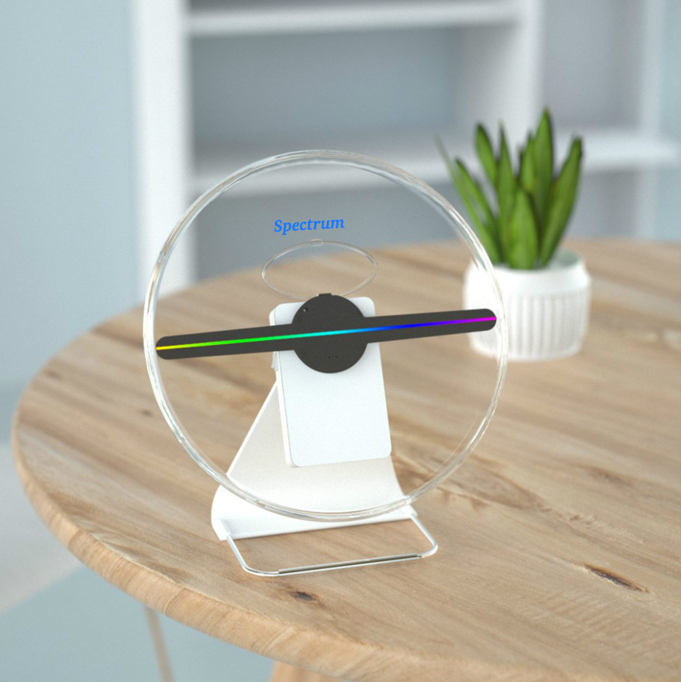 30cm Portable Mini 3D Hologram LED advertisement fan, 3D display,Handheld,wall mounted,desk standing.