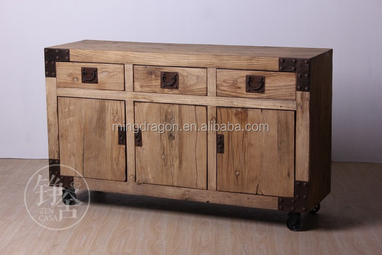 Chinese Antique Recycle Wood Book Shelf Industrial Style Furniture ...