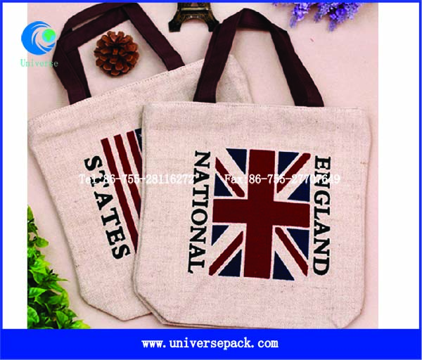British Design Shopping Bag Jute Tote High Grade Packing Bags Wholesale Custom