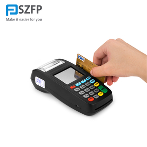 New pos 8210 Handheld mobile secure POS machine with carder read ticket printing machine