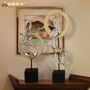 Guangzhou Home Decoration Pieces Resin Pea Display Sculpture For Whole