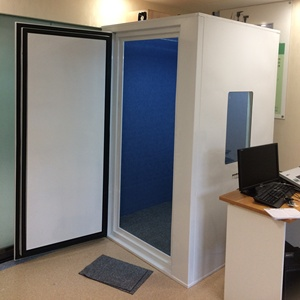 Single-door Audiometric Booth, Sound Booth, Soundproof Booth 1.2m*1.2m