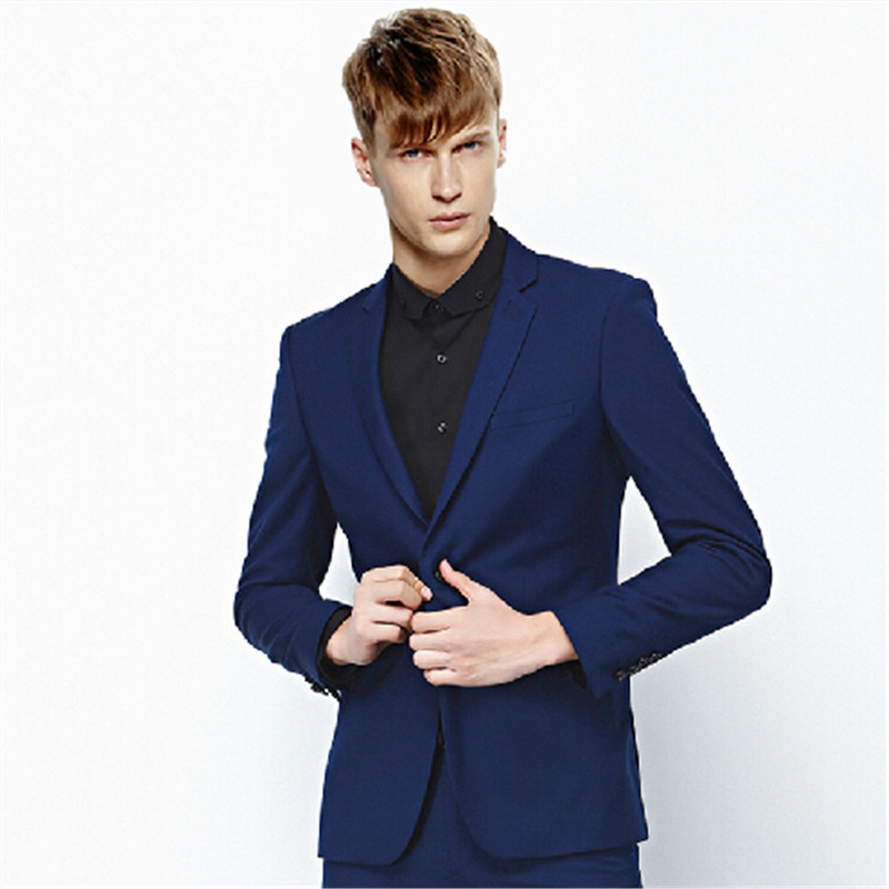 d03412da4c Get Quotations · Male han edition cultivate one s morality spring suits men  leisure suit small suit suits summer two