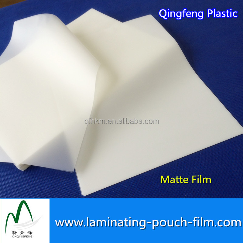Matte High Quality Pet Thermal Laminating Pouch film for Business Licenses
