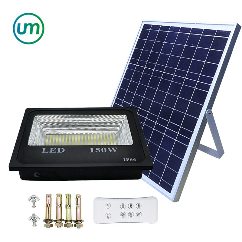 20W -200W Double Color solar street light outdoor LED Solar Light Super Bright Spotlight With Remote controller