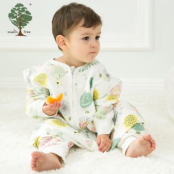 Muslin tree winter 4 layers new style gauze 100% cotton baby sleeping bag