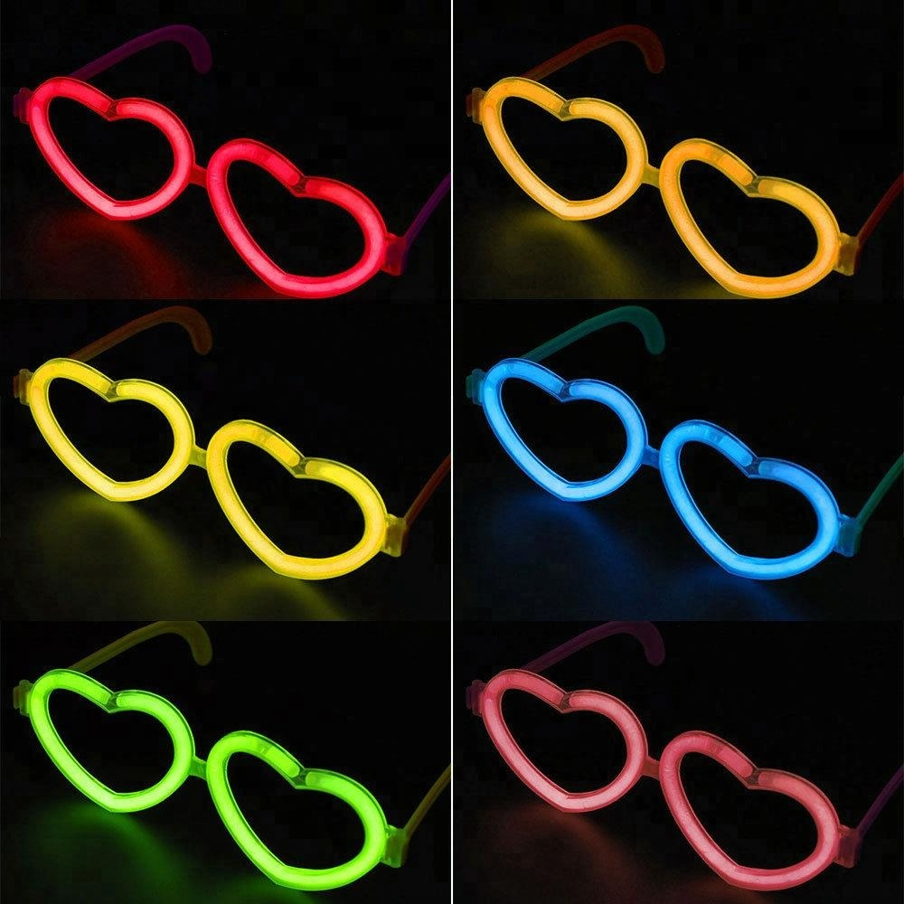 Heart Shaped sun glasses Fancy Dress Party led Club Sunglasses CE015