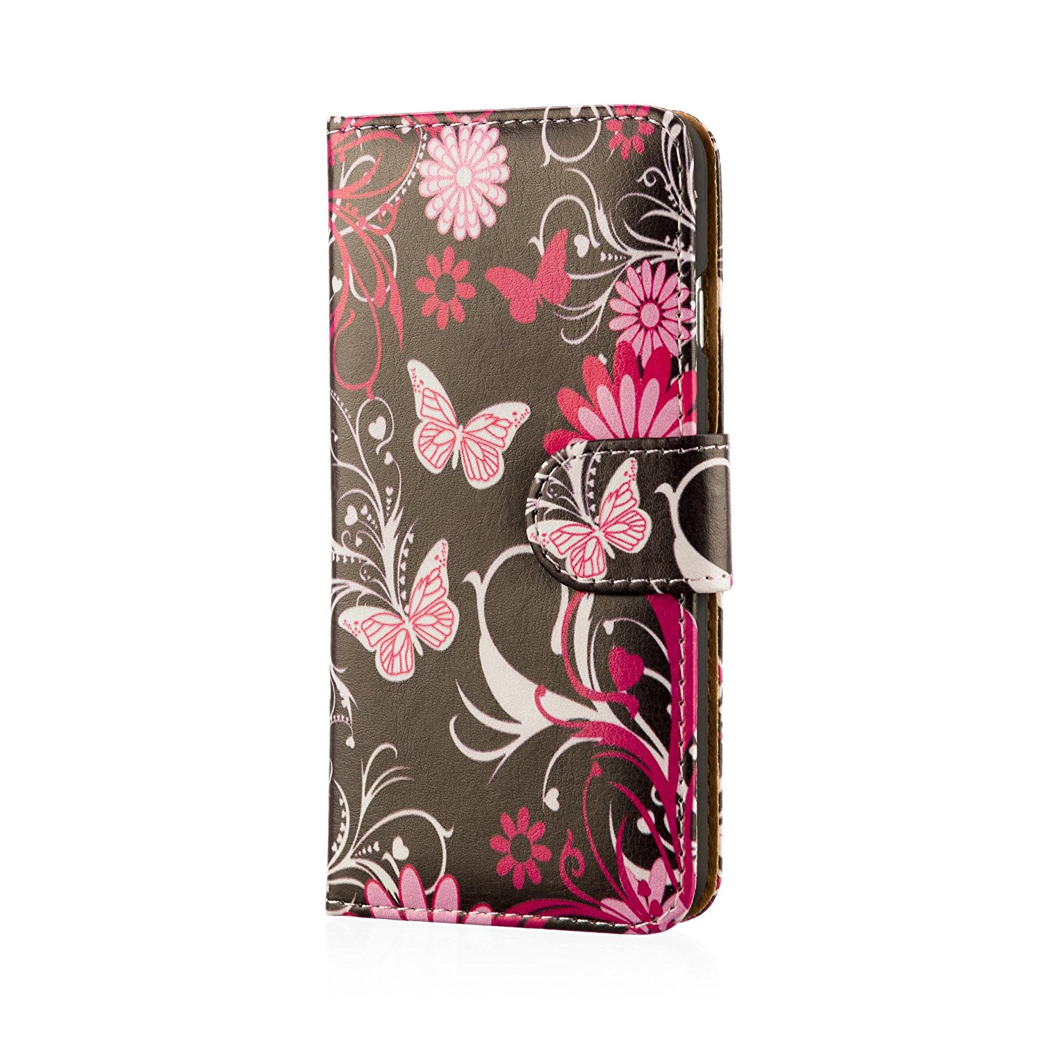 32nd Design book wallet PU leather case cover for HTC Desire 610, including screen protector and cleaning cloth - Gerbera