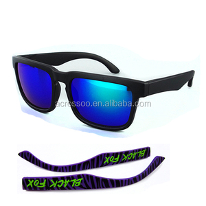 Matte Black UV400 Lens Sunglasses Interchangeable Temple Sports Sunglasses