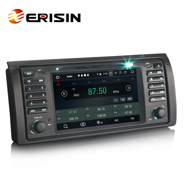 "Erisin ES7453B 7"" Android 8.0 Car DVD player Support Bluetooth hands-free and Steering Wheel Control function"