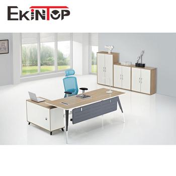 Ekintop Moderne Melamine Executif En Bois Bureau Table De Bureau