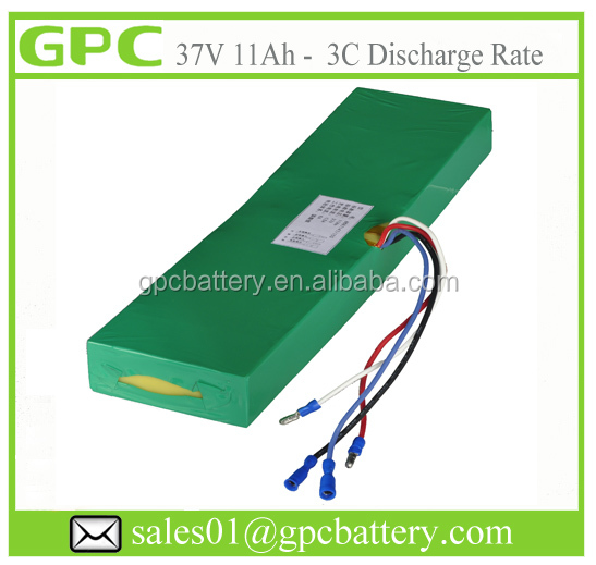 Rechargeable E-Skate Board Battery 36V 10AH with lipo cells