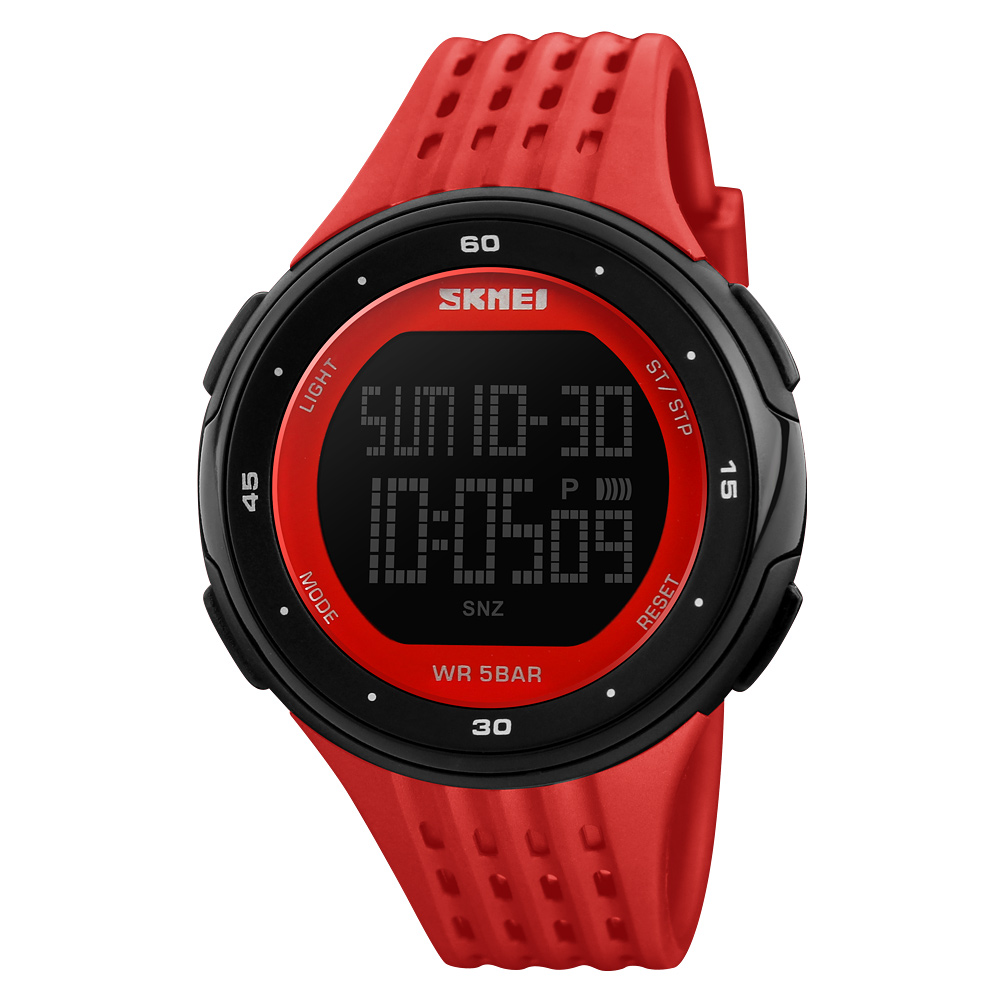 Relojes hombre SKMEI 1219 China supplier men wristwatches digital sport watch women plastic waterproof watch, 8 colors