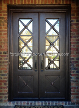 2016 Newest Luxury Design Iron Gate Square Top Wrough Door For Home S