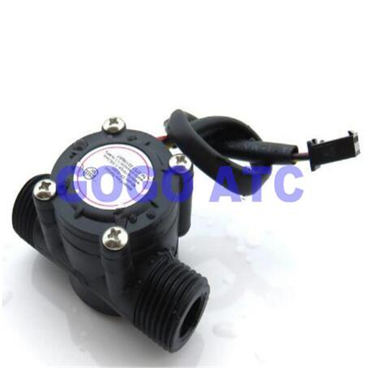High precision water flow sensor Meter Hall Flowmeter electric on off water <strong>valve</strong>