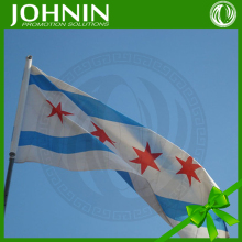 City of Chicago 3'x5' Ft Polyester Grommets Fast Deliverly Cheap Chicago Flag