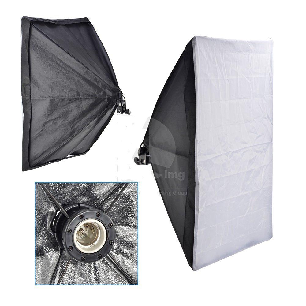 SouthbayCamera 50x70cm Studio Photo Soft Box E27 Socket For Flash Lighting, Continuous Light