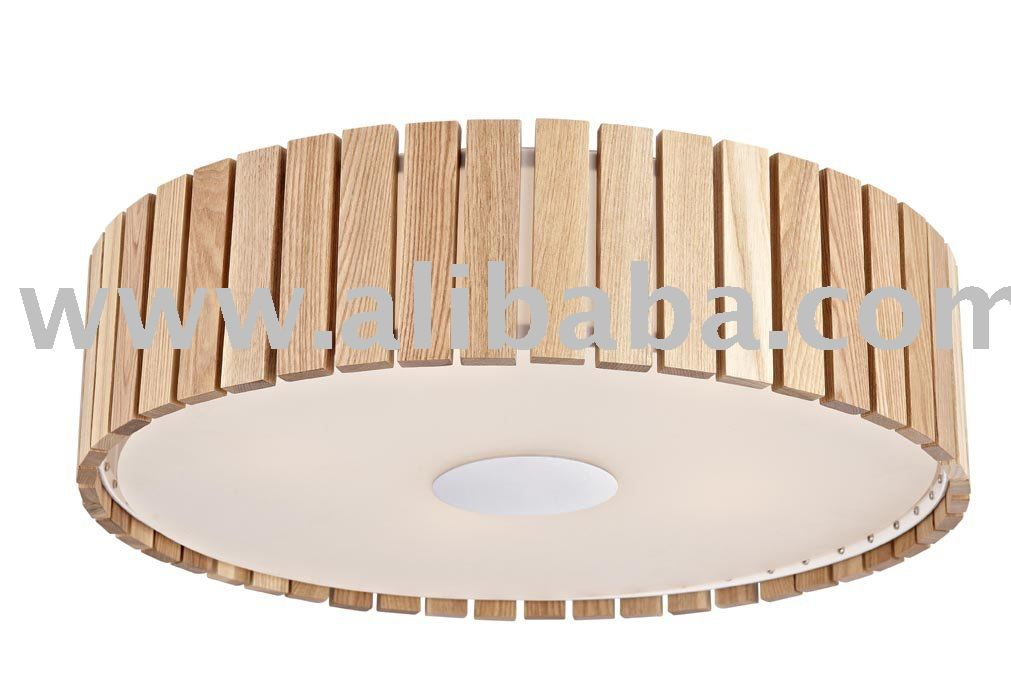 Wooden Shade Ceiling Lamp