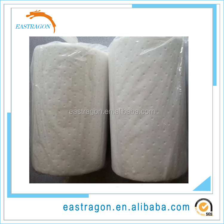 White Polypropylene Oil Absorbent Roll