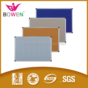 Wholesale aluminum framed cork pin bulletin board with plastic corner/zinc back/Double Sided