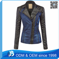 New Design Leather Sleeve Fitness Patchwork Leather Jacket