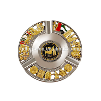 Souvenir Gifts Dubai Souvenir Ashtray Collectable Plates Custom Gold Plate Logo Dubai Souvenir