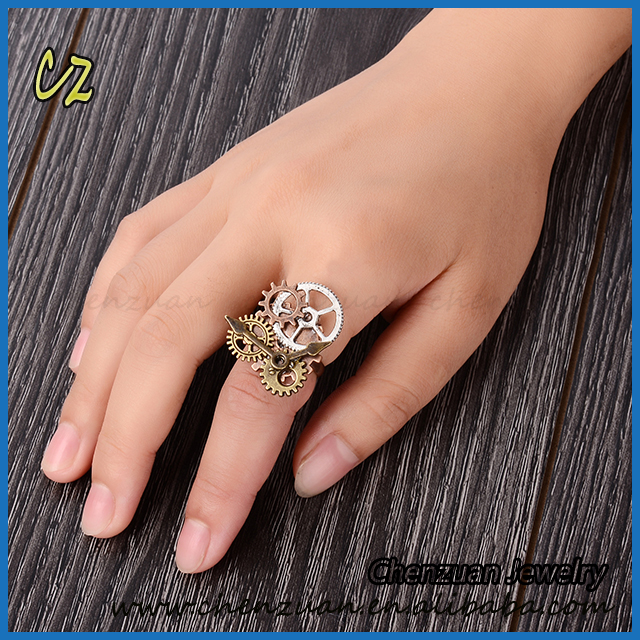 Hot sale Steam Punk Jewelry Gear Steam Punk Rick Ring For Women