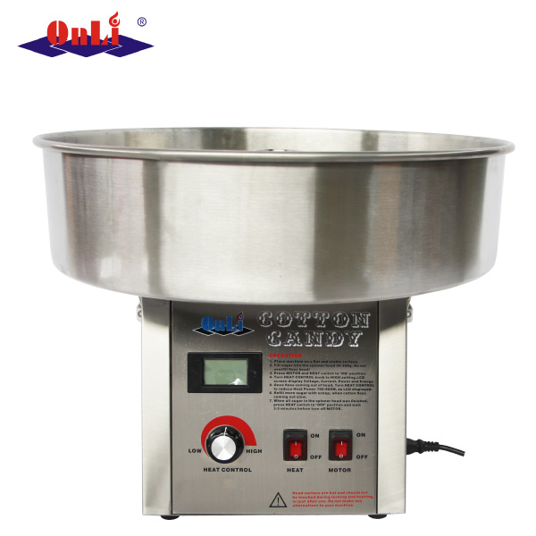High capacity commercial/professional stainless steel digital cotton candy floss machine price
