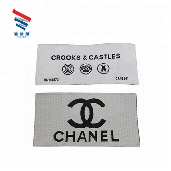 Soft comfortable famous clothing garment custom brand logos high density main woven label