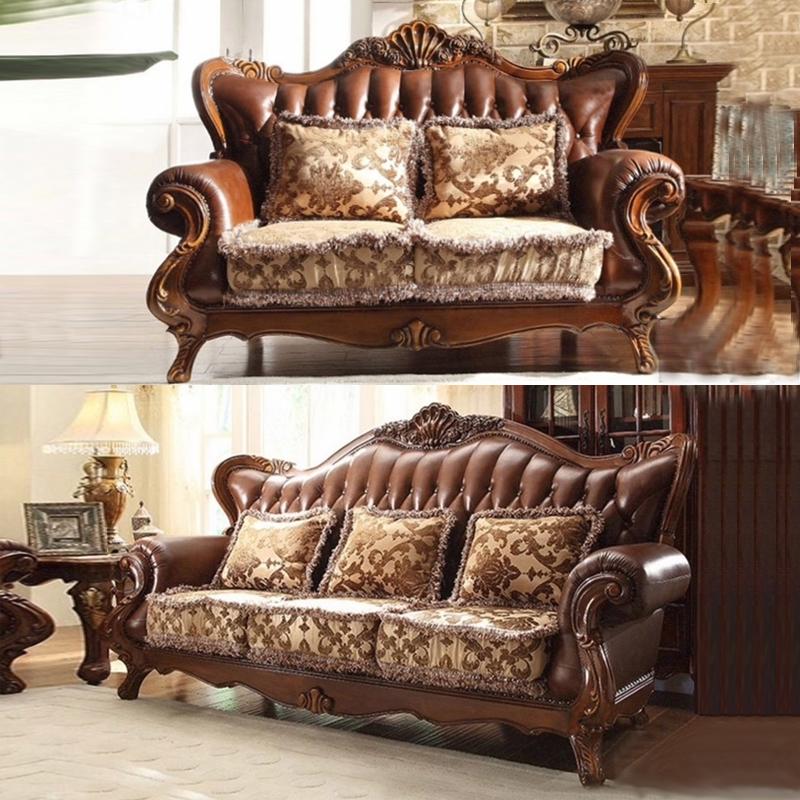 antiken luxus vintage braun farbe spitzenkorn leder holz sofa f r villa wohnzimmer sofa produkt. Black Bedroom Furniture Sets. Home Design Ideas