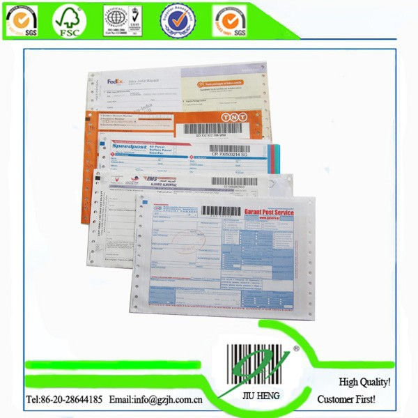 High quality China Express air waybill ,barcode courier waybill printing