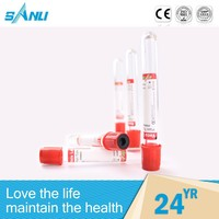 sterile comfortable single use blood collection glass tube