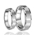 High polished tungsten carbide ring multifaceted edges couple wedding rings china supplier
