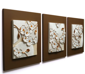 Resin Wall Art 3d relief flower resin wall art - buy resin wall art,3d relief