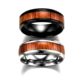 Men titanium stainless steel finger blank wood ring