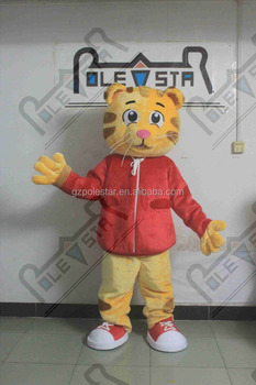 red coat cat mascot costumes plush fur cat costume