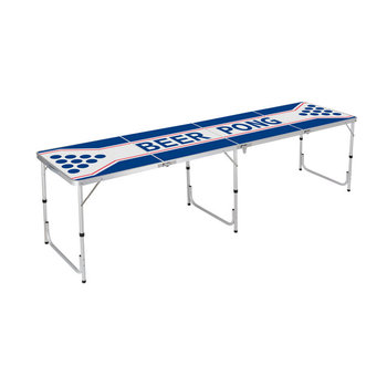 Outdoor party game custom 240*60 aluminum folding beer pong table