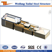 Customized steel structure/warehouse workshop canopy building/Steel Structure shopping mall