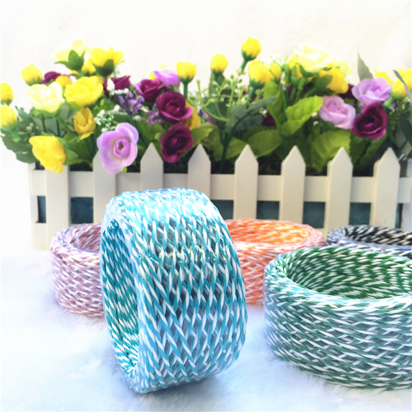Assorted color gift wrap raffia paper ribbon for decoration