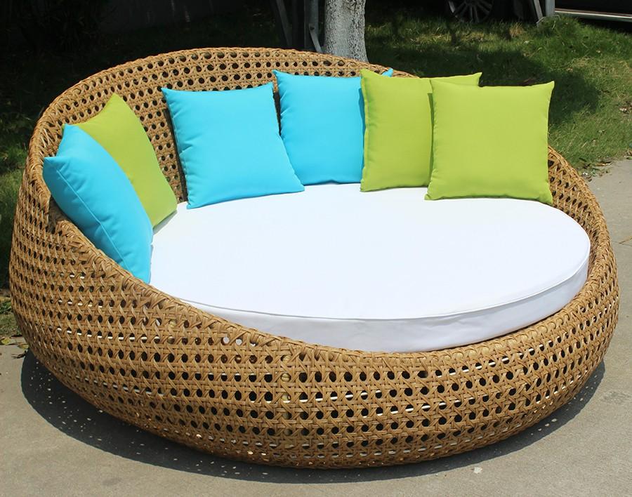 Divano moderno solarium rattan letto rotondo usato mobili - Letto rotondo usato ...