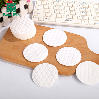 cosmetic natural  make up remover absorbent round cotton pads