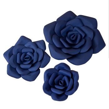 Wholesale Navy Blue Wedding Flowers Decorate A High-end Wedding ...