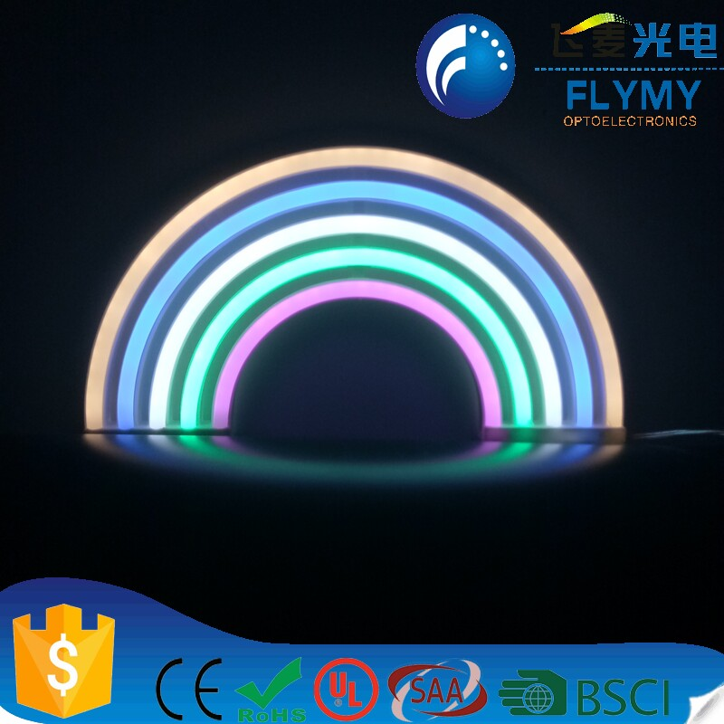 Amazon Hotsale Led Rainbow Neon Light Wall Hanging Colorful Lighting